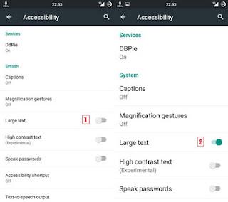 3 Cara Memperbesar Huruf Pada Smartphone Android