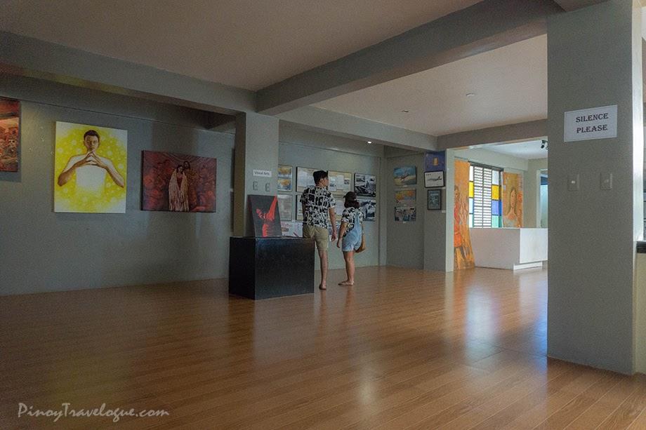 Art gallery on museum's upper floor