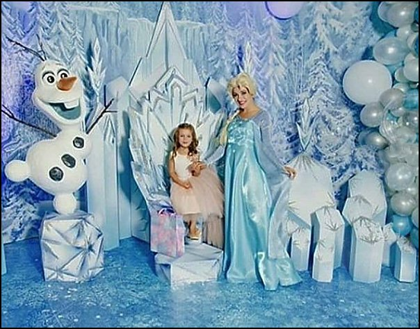 Frozen Party Throne Decoration • Anna and Elsa Birthday Props • Princess Birthday Event Throne • Foam Winter Snow Crystal Throne