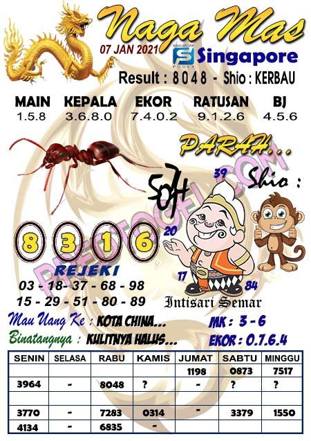 Syair Naga Mas SGP Kamis 07 Januari 2021