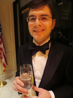 male wedding guest at a formal event in a tuxedo