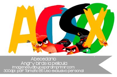 abecedario de Angry birds la pelicula para imprimir