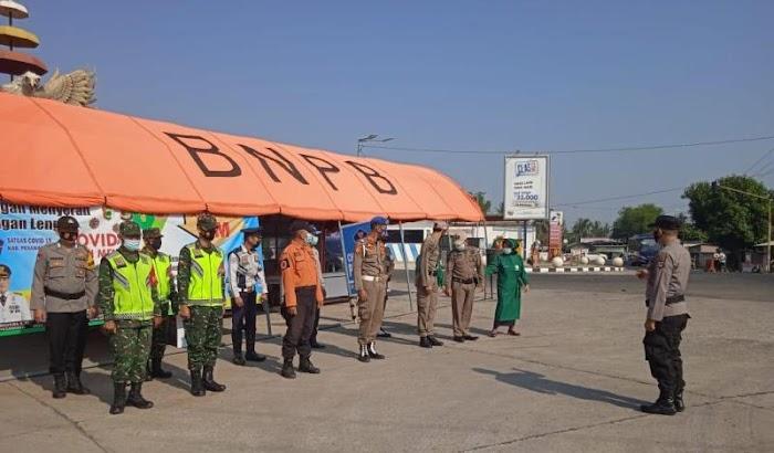 Cegah Kedatangan Pemudik, BPBD Pesawaran Buat Titik Penyekatan Di Tugu Pengantin