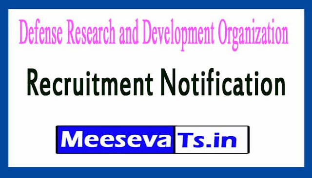 Defense Research and Development Organization DRDO Recruitment