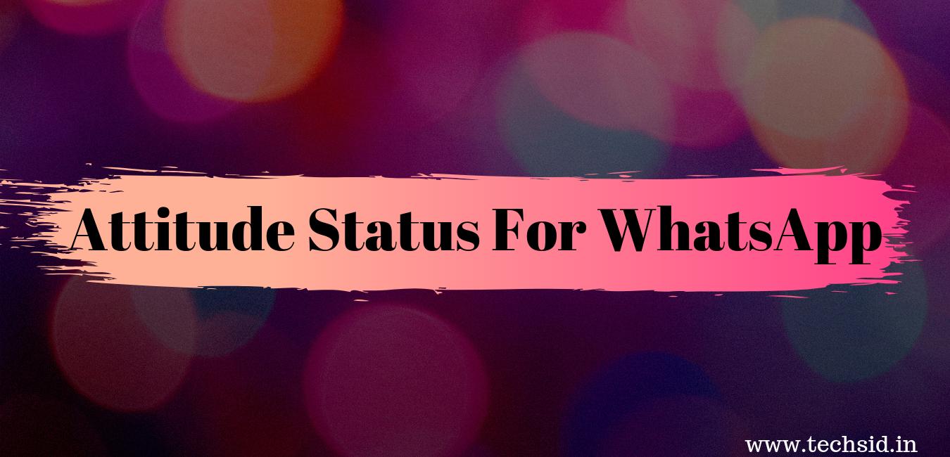 101 Attitude Status For Whatsapp Whatsapp Status Attitude