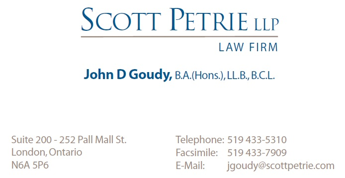 John D. Goudy, Lawyer