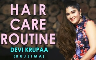 Hair Care Routine By Devi Krupa (Bujimaa) Secret Tips for damaged hair and dandruff India 2018