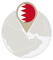 Bahraini flag and map