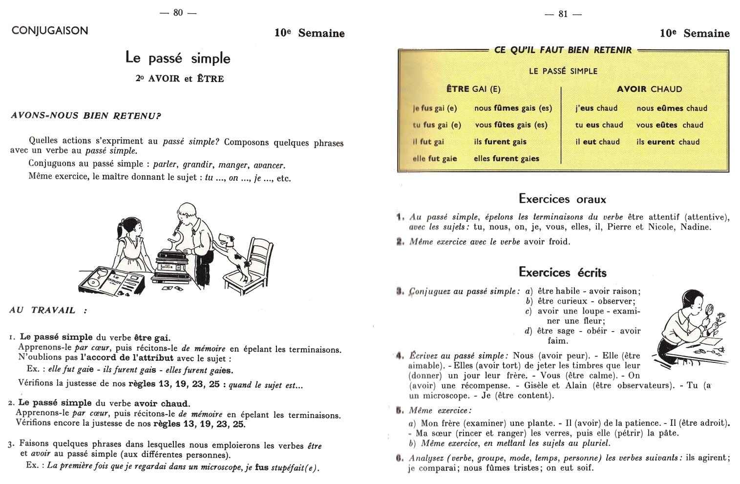 Le passé simple des verbes du 3e groupe Bescherelle