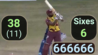 36-runs Record-equal Over | Kieron Pollard 6-Sixes in an Over Highlights