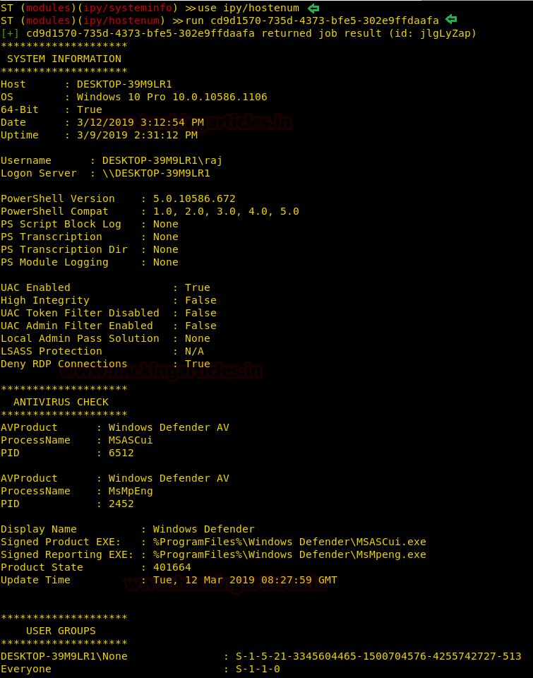 Command & Control: Silenttrinity Post-Exploitation Agent