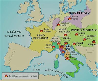 El siglo XIX Revoluciones 1848