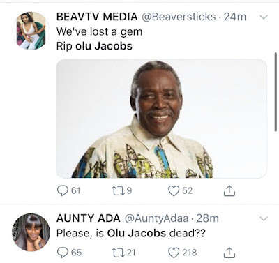 when did olu jacob died