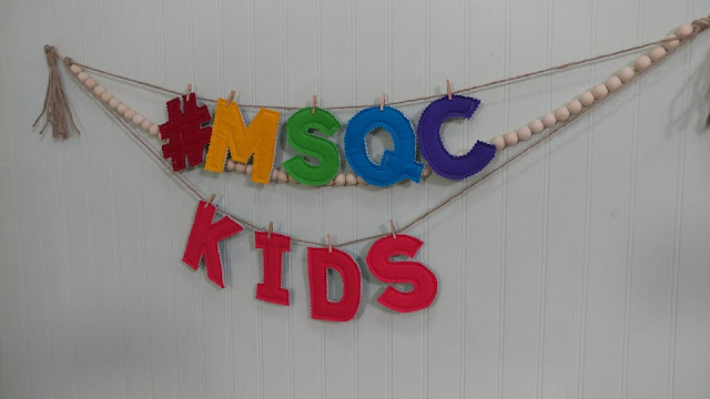 MSQC Kids fabric letters