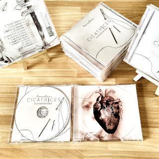 CD en caja de Abraham Arvelo. Cicatrices, la parte invisible.