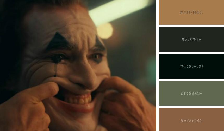 Paleta de cores do filme Coringa