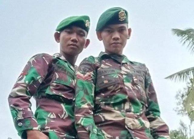 Adik-Kakak Asal Sangir Lolos Jadi Anggota TNI