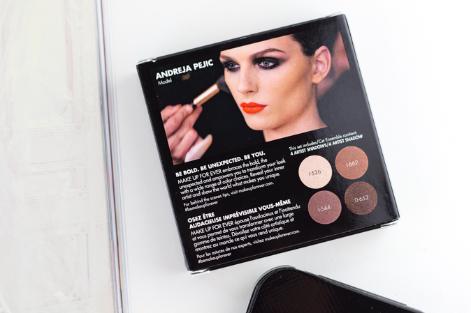 make up for ever andreja pejic artist shadow eyeshadow palette