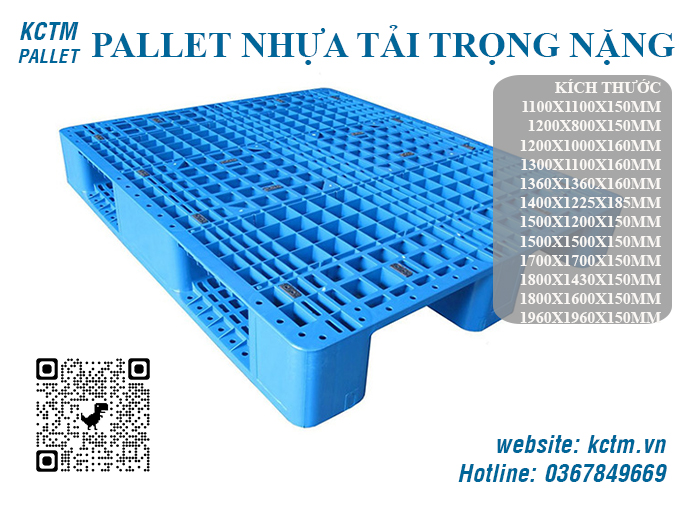 KCTM Pallet báo giá sỉ Pallet nhựa tải trọng nặng