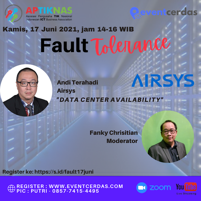 Building Fault Tolerance System Infrastructure - Data Center Availability 17 Juni 2021