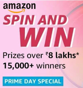 Amazon Spin And Win 13th July 2019 - 15000 Winners | Free