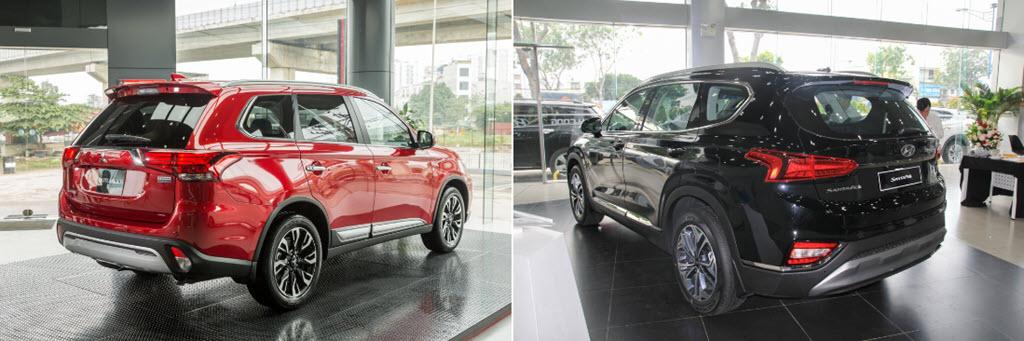 Chọn Mitsubishi Outlander Premium hay Hyundai Santa Fe 2.4 với 1 tỷ?