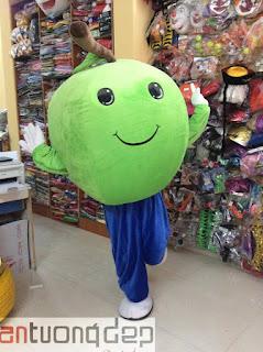 cho thuê mascot trái táo