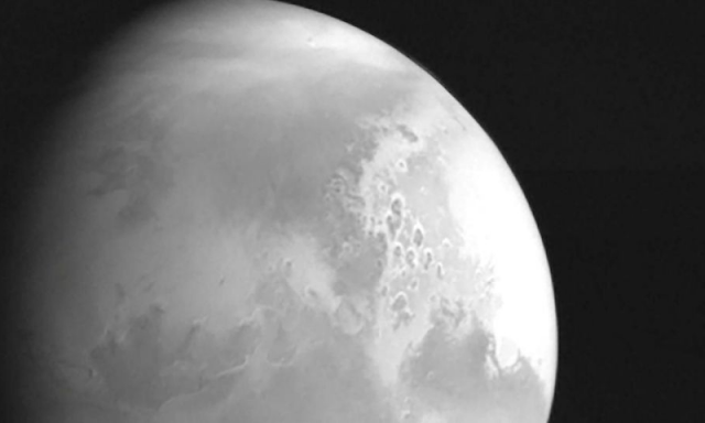 China's Mars probe sends .............................................. Red Planet