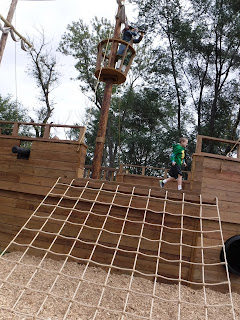 pirate ship play structure at scarecrow farms lawton iowa