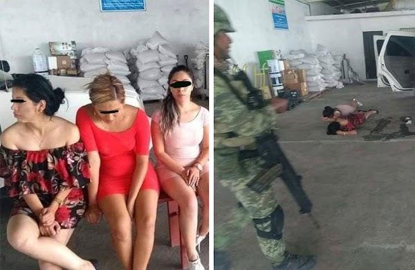 Exhiben captura de lindas huachicoleras y ciudadanos se ofrecen a pagar la fianza