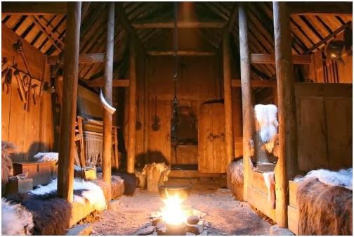 Storia dell architettura climatica clima freddo le case for Casa interni