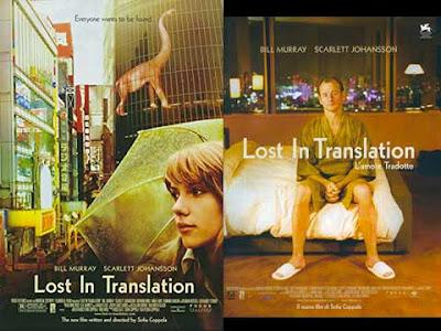 La locandina di ''Lost in translation'', in italiano con il sottotitolo ''L'amore tradotto''