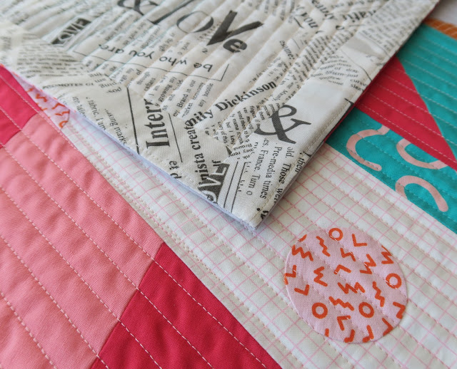 Luna Lovequilts - Gelateria quilt - Faced binding