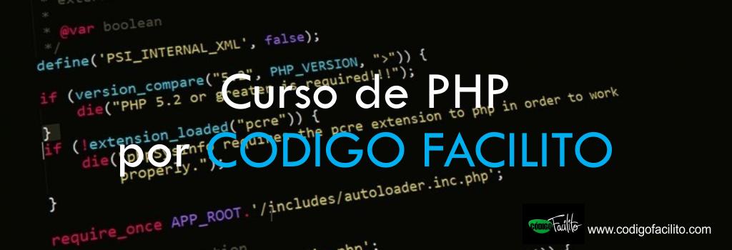 Curso de PHP por CODIGO FACILITO