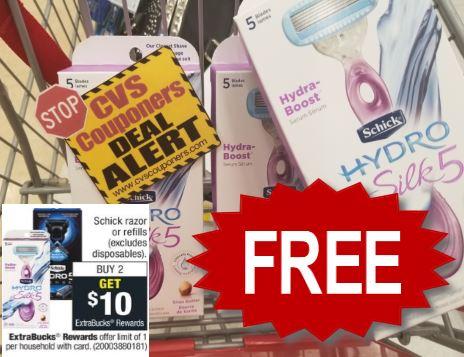 FREE Schick Razor CVS Deal - 9/15-9/21