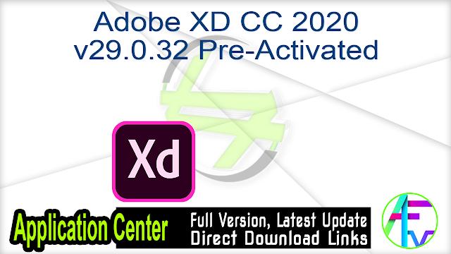 Adobe XD CC 2020 v29.0.32 Pre-Activated