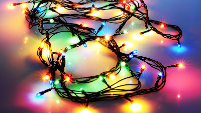 Christmas, New Year, Garland, Lights, Holidays