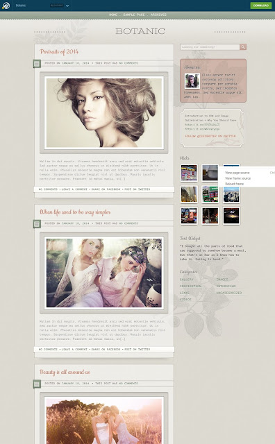Botanic- Professional wordpress Tumblr theme