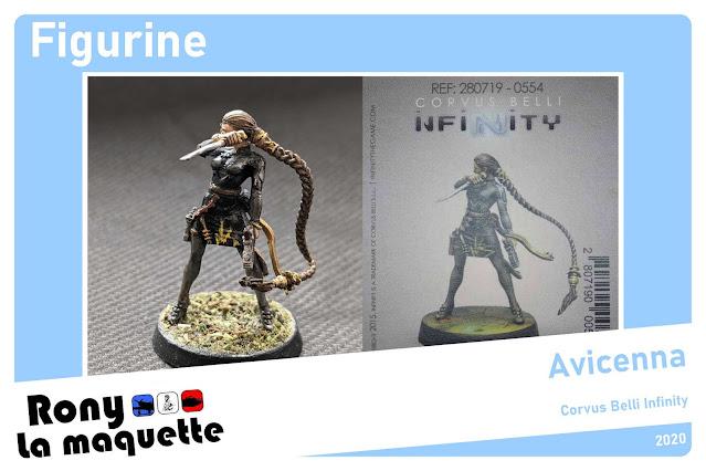 Figurine Avicenna du jeu Corvus belli Infinity.