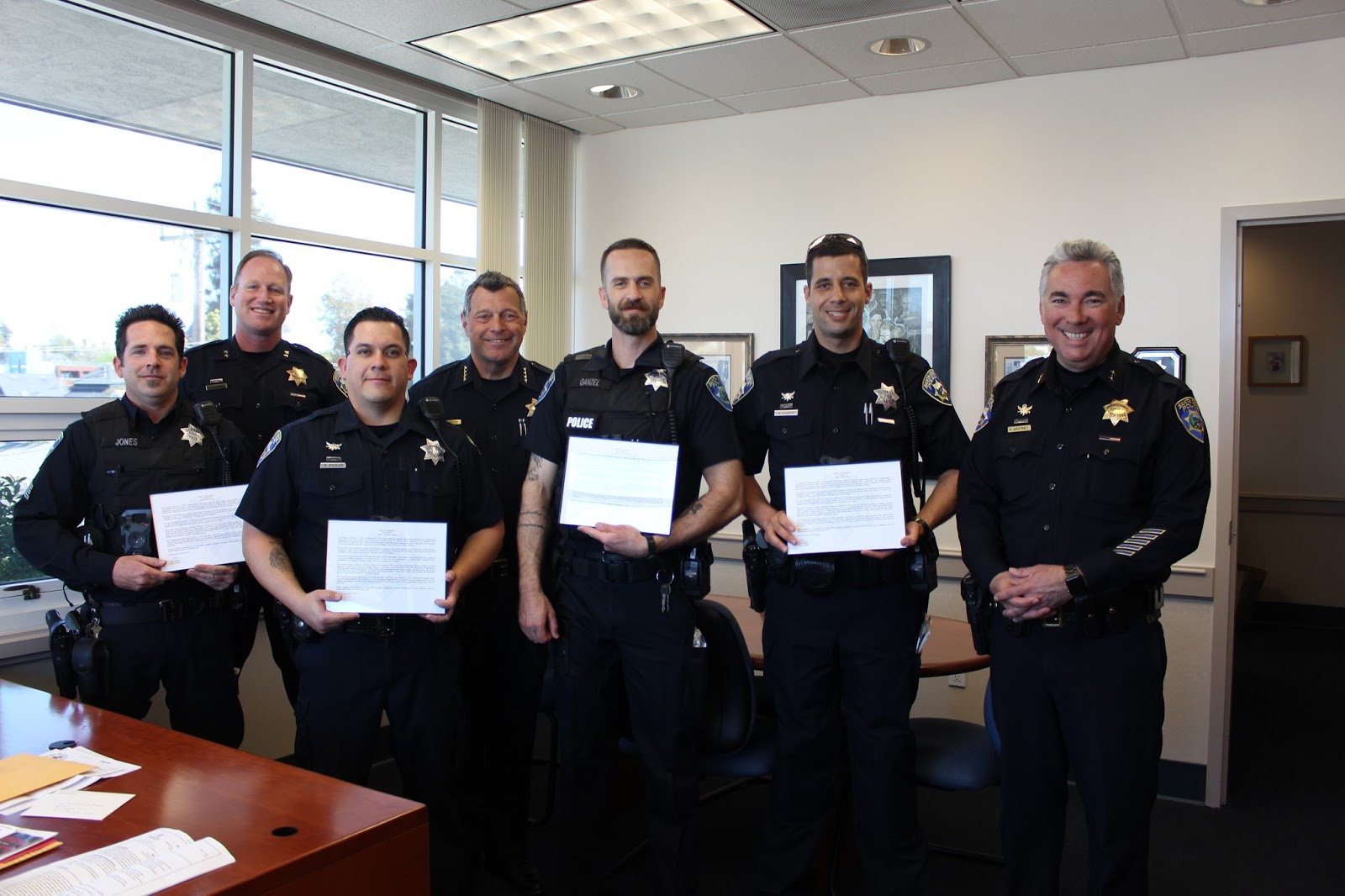 Santa Cruz Police: Chief's Commendation Awarded To Sgt  Carter Jones