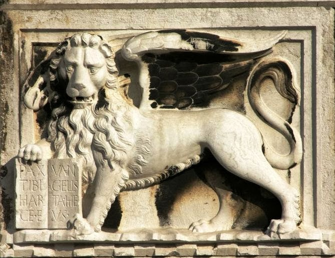 The winged lion of Saint Mark (Leone Marciano), Venice