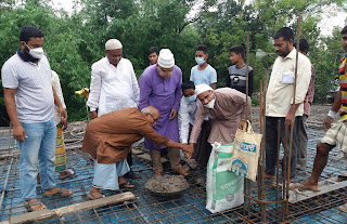দিনাজপুর সদরের তরিমপুর জামে মসজিদের  ছাদ ঢালাই কাজের উদ্বোধন
