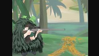 posisi menembak, senapan angin, cara menembak, berburu