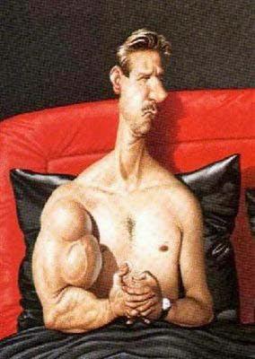 lustige Bilder zu Muskelaufbau zu Hause im Bett