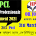 HPCL Various Professionals Recruitment Notice 2021
