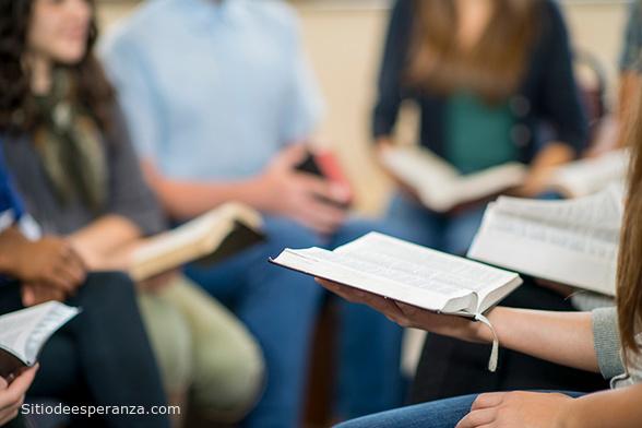 Jóvenes estudiando la Biblia