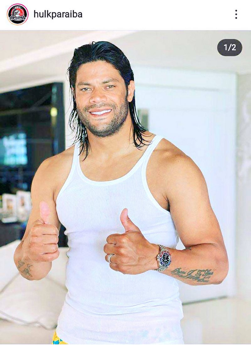 Hulk llegó en modo bestia para unirse a Eduardo Vargas