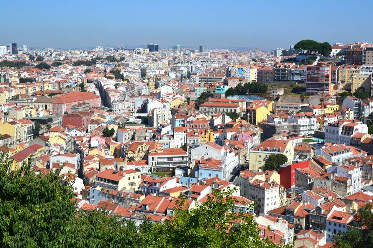 Vue depuis le castelo Sao Jorge Lisboa