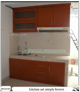 kitchen set minimalis model simpel brown