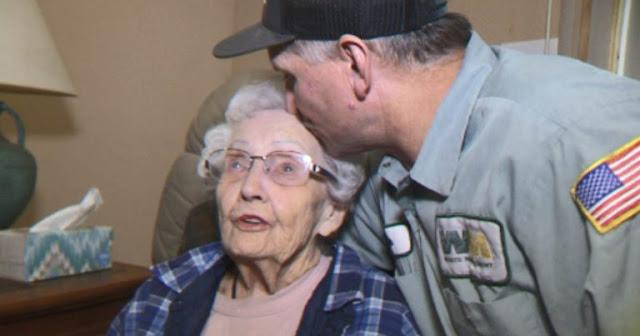 Уборщик мусора спас от гибели в лесном пожаре одинокую 93-летнюю калифорнийку